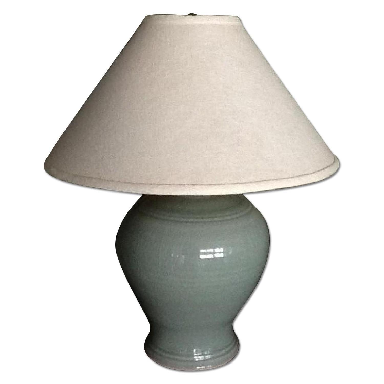 Green Ceramic Table Lamp - image-0