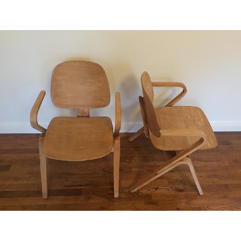 Thonet circa 1950s Bentwood Armchairs by Joe Atkinson - Pair - image-3