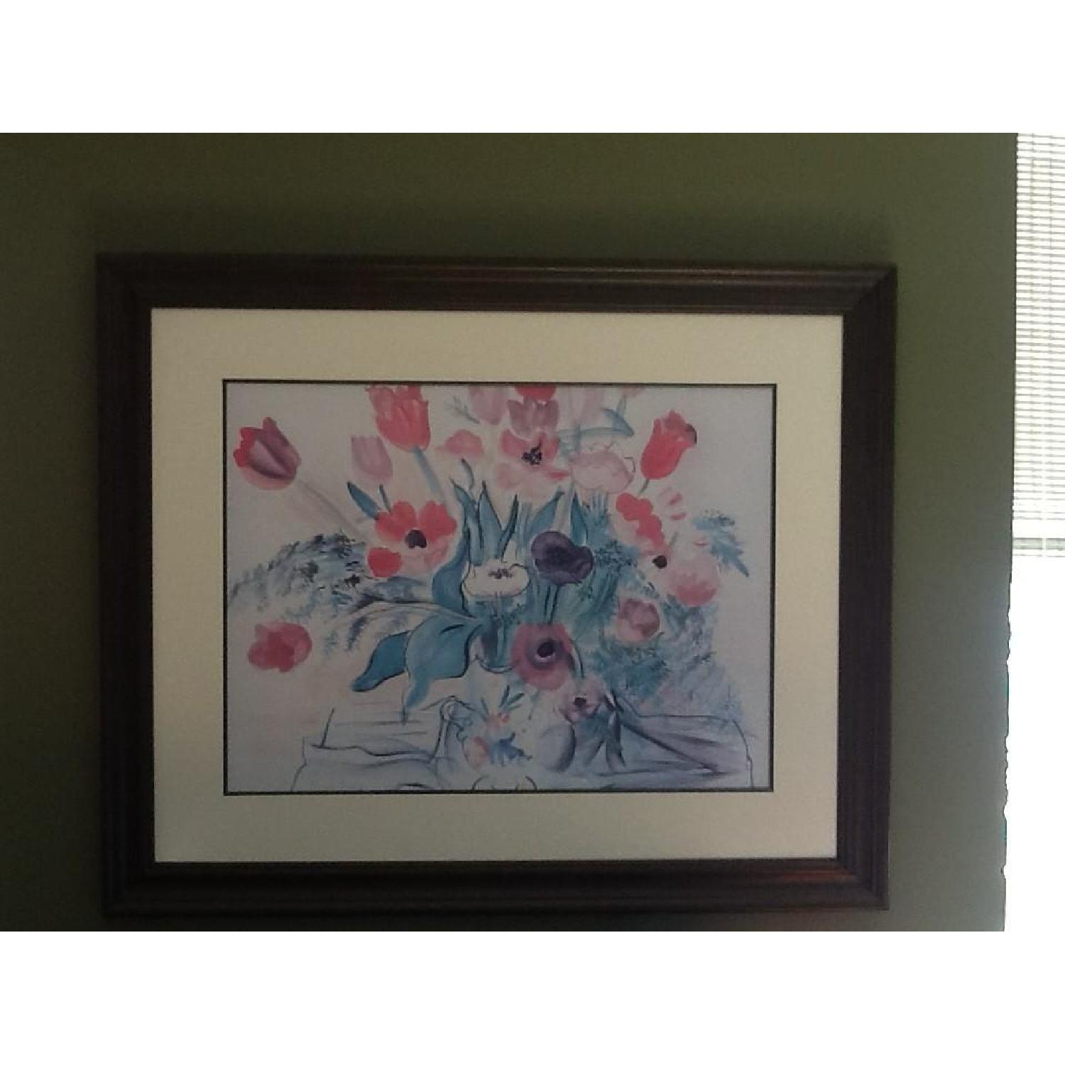 Framed & Matted Raoul Dufy Poster - Tulips & Peonies - image-1