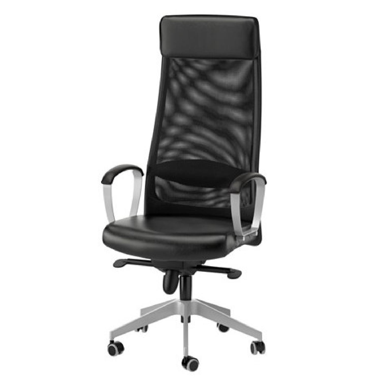 Ikea Markus Swivel Chair in Gloss Robust Black - image-1