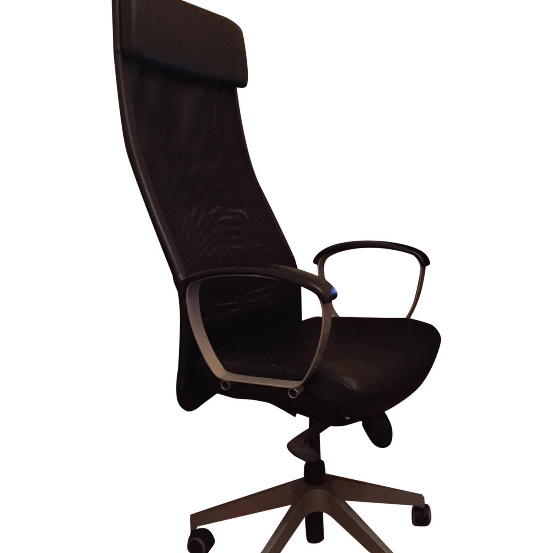 Ikea Markus Swivel Chair in Gloss Robust Black - image-0