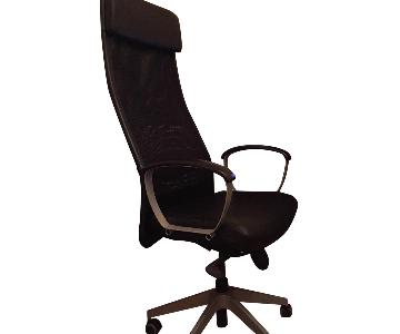Ikea Markus Swivel Chair in Gloss Robust Black