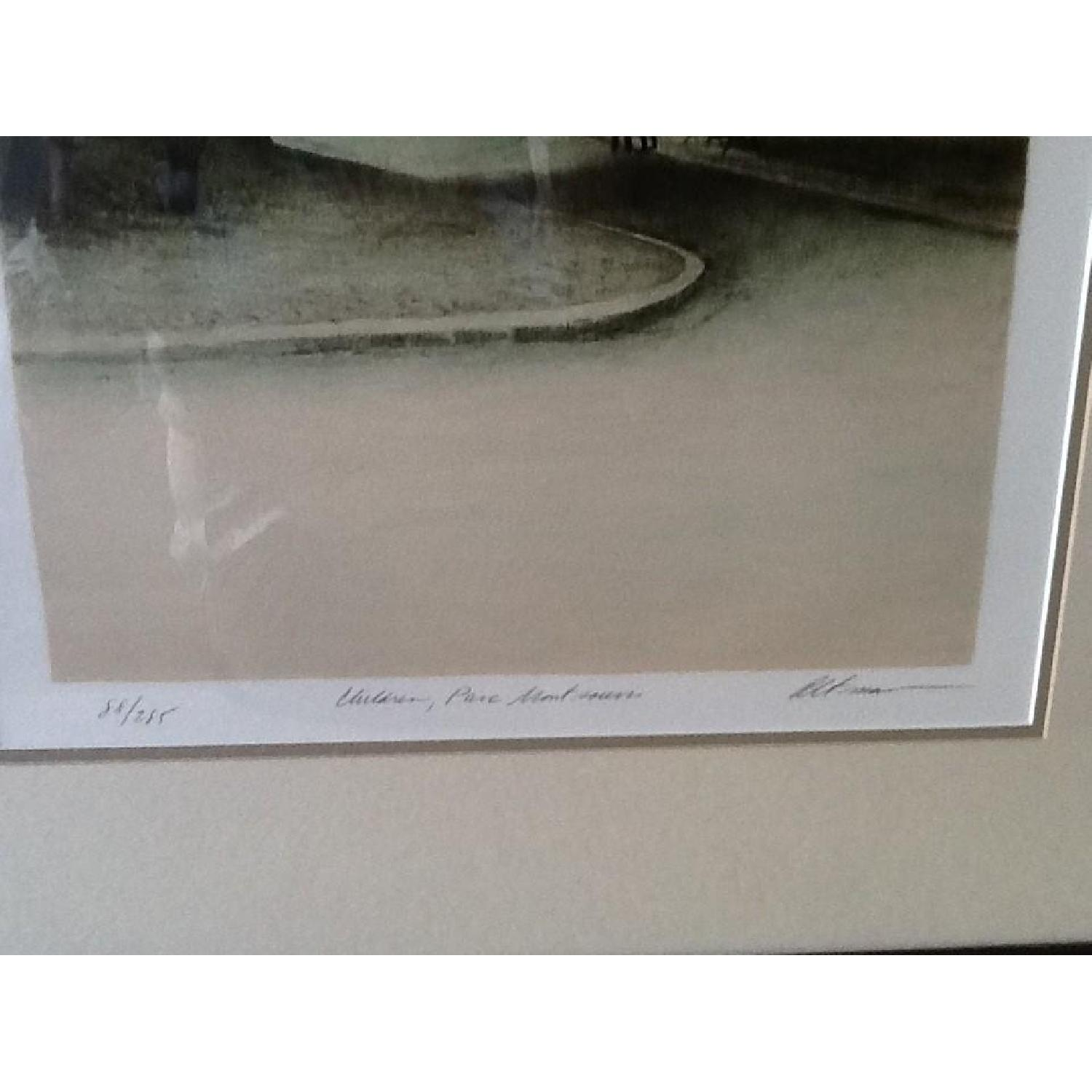 Harold Altman Numbered & Penciled Signed Lithograph - Parc Montsouris - image-1