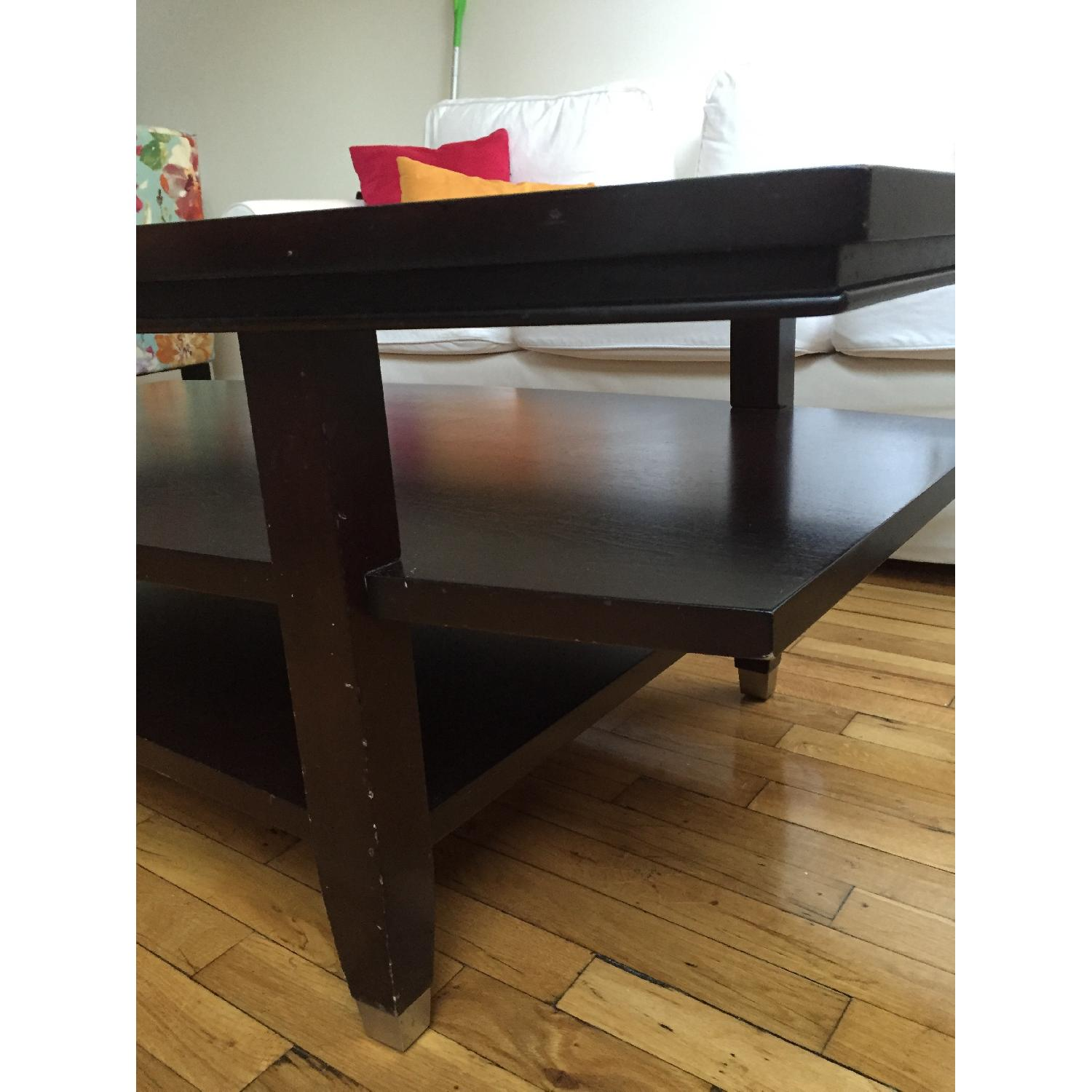 Wooden Glass Top Coffee Table - image-4
