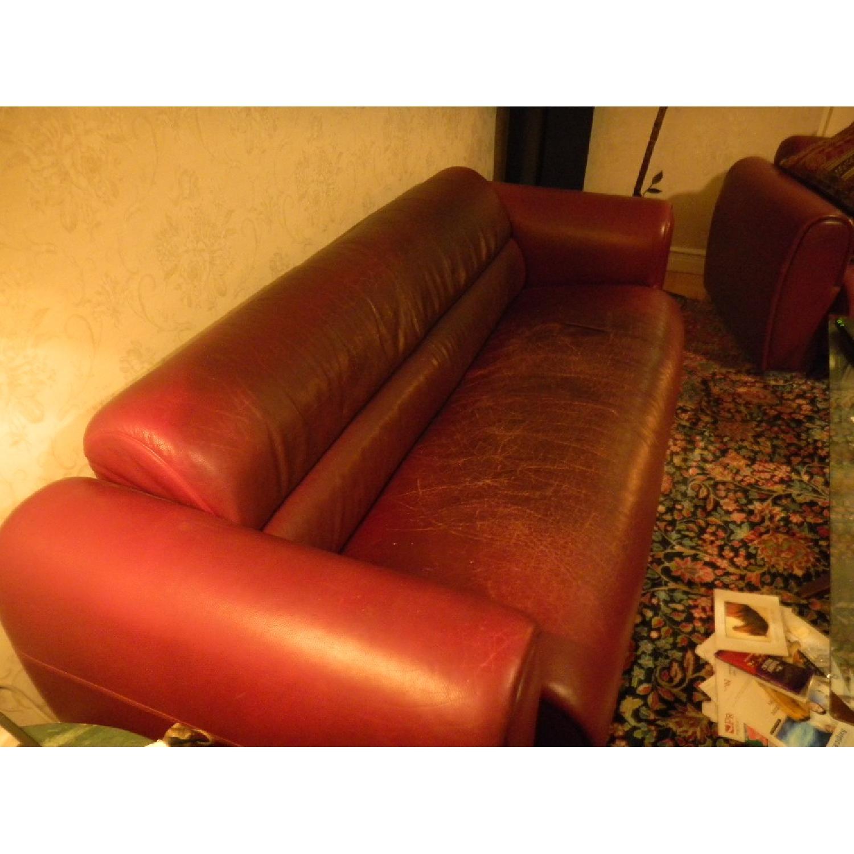 Bruehl Sumo Leather Sofa in Burgundy - image-2