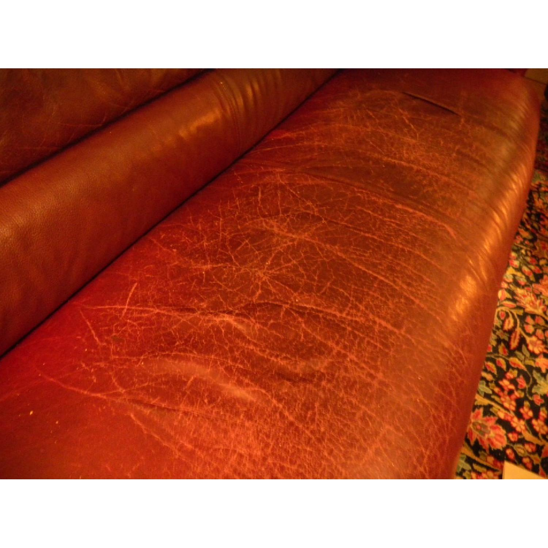 Bruehl Sumo Leather Sofa in Burgundy - image-3
