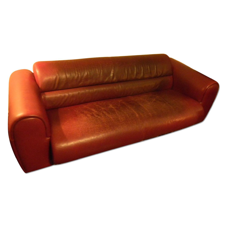 Bruehl Sumo Leather Sofa in Burgundy - image-0