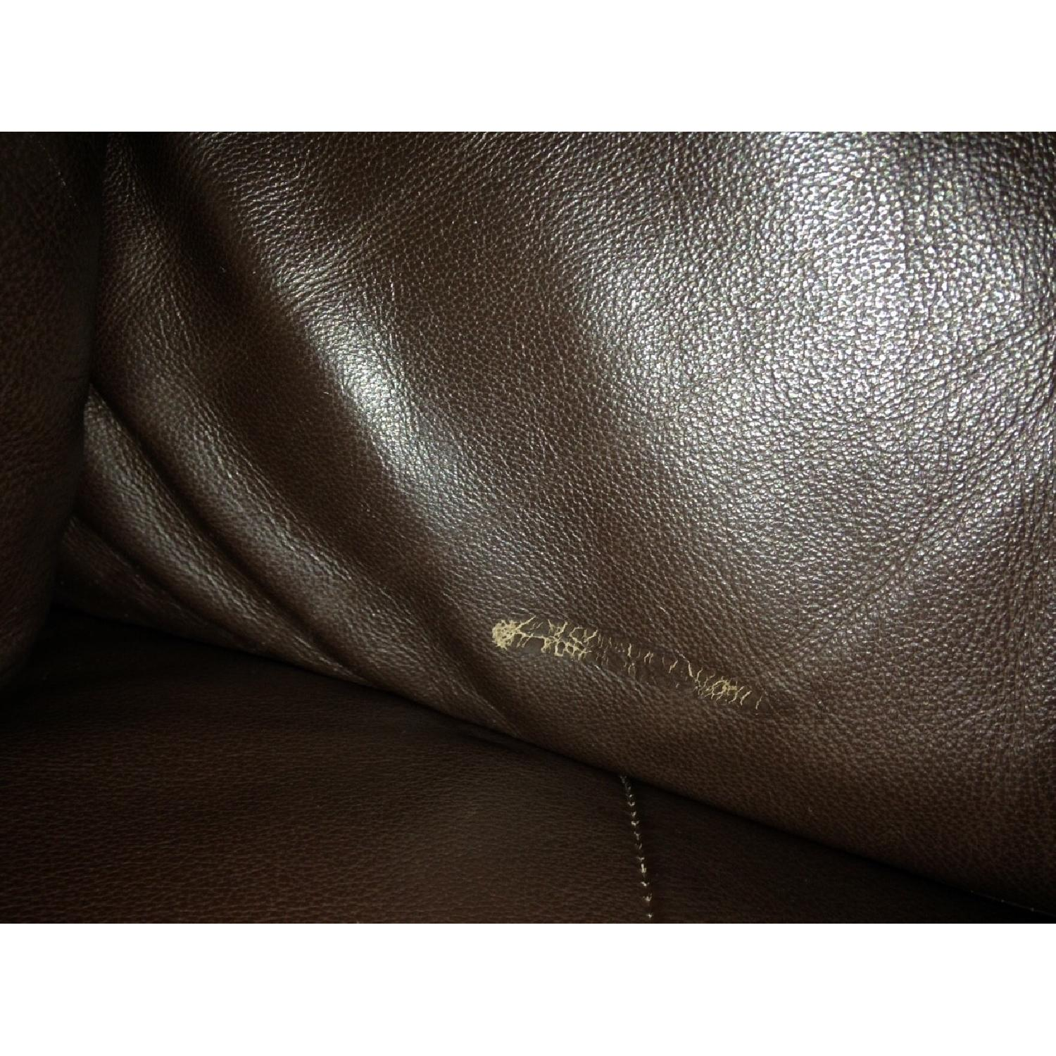 Ikea Leather Loveseat/Couch - image-2