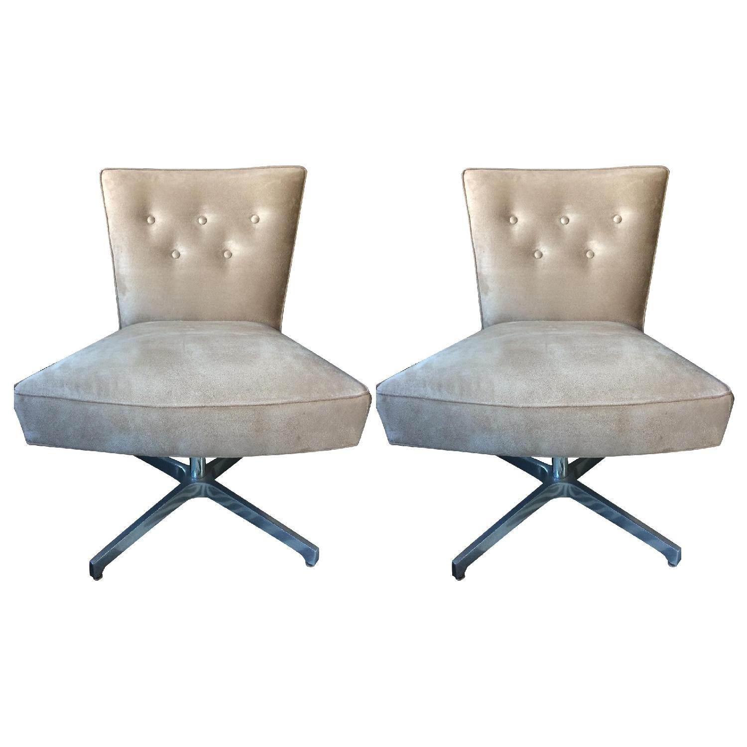 Mitchell Gold + Bob Williams Swivel Chairs - Pair - image-0