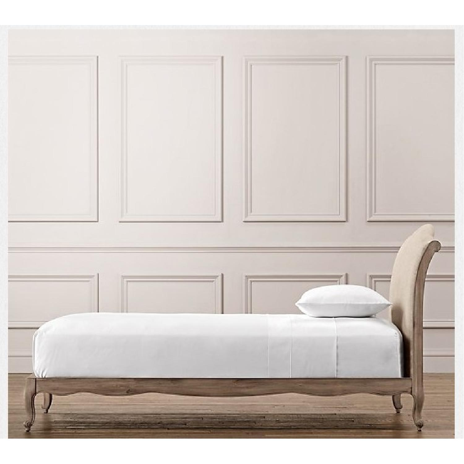 Restoration Hardware Lea Upholstered Twin Size Platform Beds - Pair - image-2