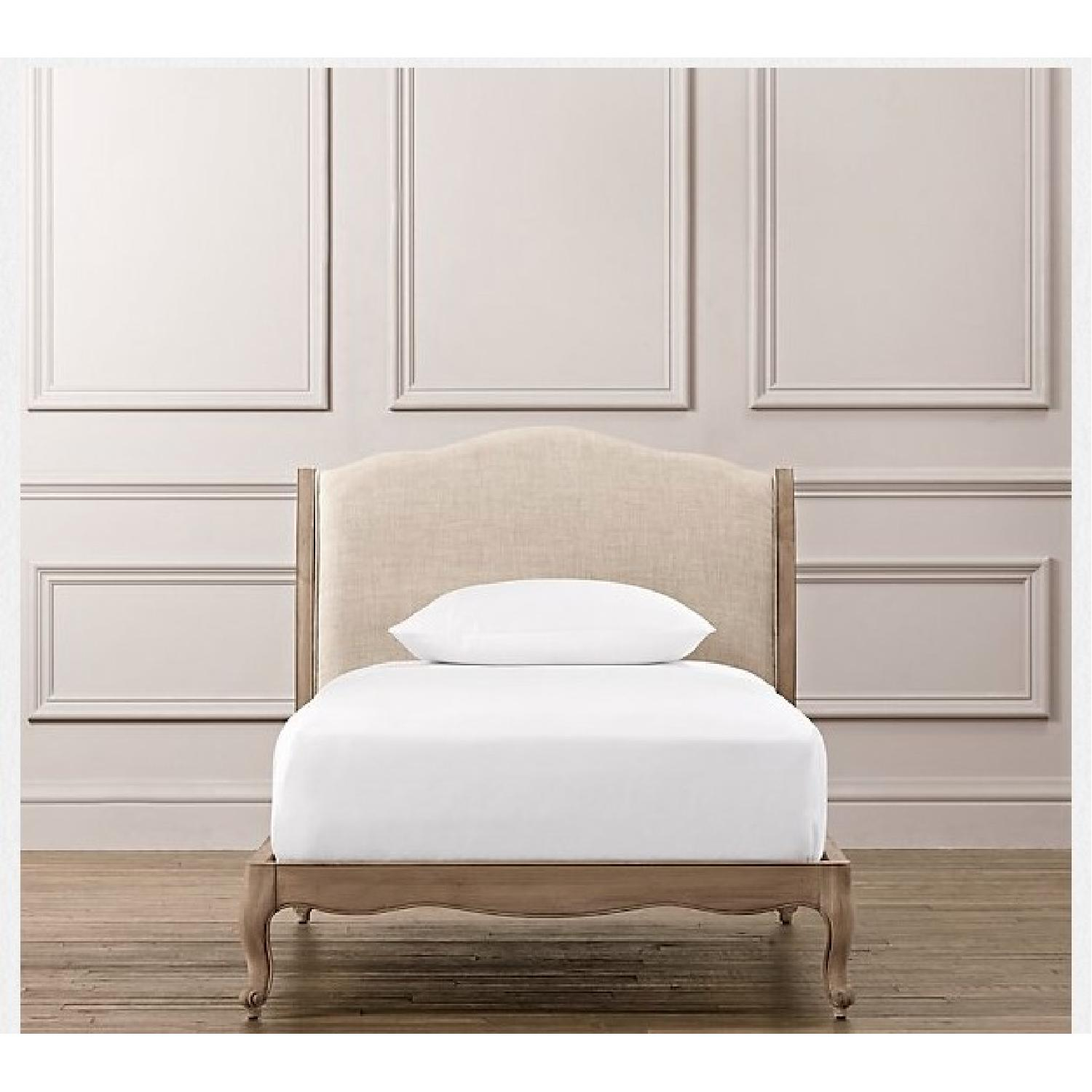 Restoration Hardware Lea Upholstered Twin Size Platform Beds - Pair - image-3