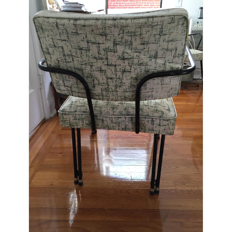 Viko Furniture Corp 1950s Mid Century Vinyl Atomic Low Back Metal Chairs - Pair - image-5