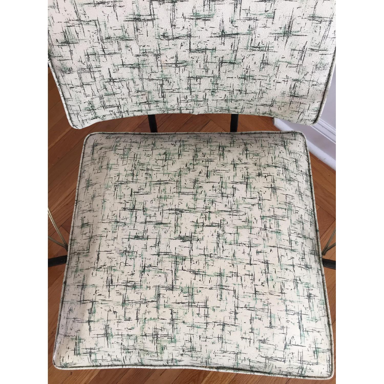 Viko Furniture Corp 1950s Mid Century Vinyl Atomic Low Back Metal Chairs - Pair - image-6