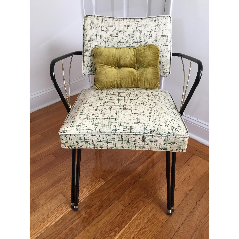 Viko Furniture Corp 1950s Mid Century Vinyl Atomic Low Back Metal Chairs - Pair - image-8