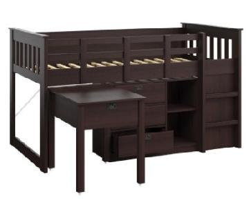 Viv + Rae Twin Low Loft Bed w/ Storage in Rich Espresso
