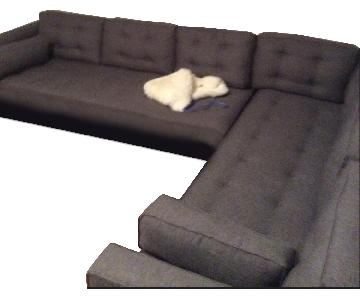 Younger Furniture Grey 2 Piece Sectional Sofa