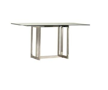 West Elm Hicks Glass Dining Table