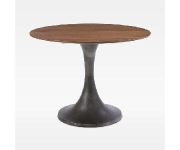 West Elm Industrial Round Pedestal Table