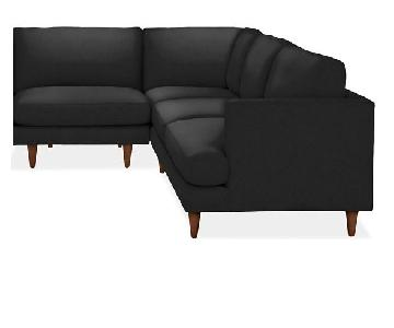 Room & Board Black Sectional Couch