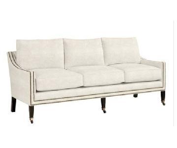 Ballard Designs Griffin Sofa w/ Aged Brass Nailheads