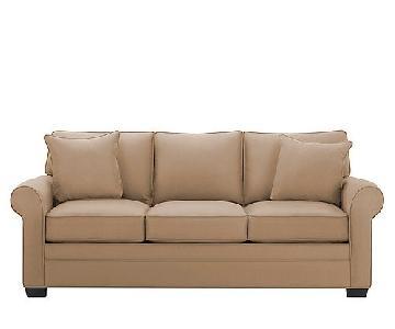 Raymour & Flanigan Queen Microfiber Sleeper Sofa