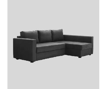 Ikea Manstad Sleeper Sectional Sofa w/ Storage