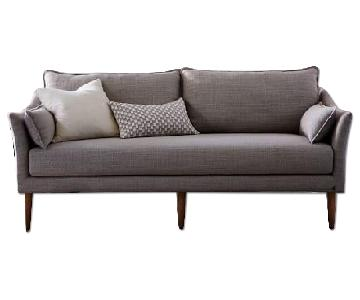 "West Elm Antwerp 76"" Sofa in Feather Gray Deco Weave"
