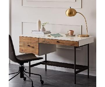 West Elm Reclaimed Wood and Lacquer Desk