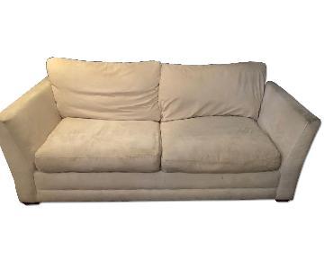 Jennifer Convertibles Microsuede Queen Size Sleeper Sofa
