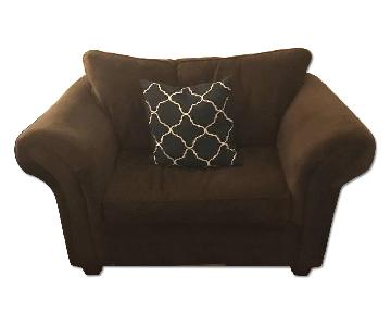 Bob's Brown Oversized Armchair