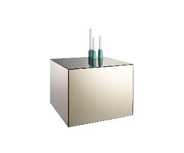 CB2 City Sicker Mirrored Table