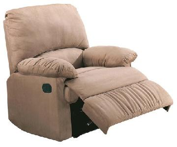 Recliner Chair In Soft Microfiber Fabric ...