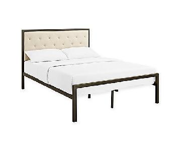 Bed Bath & Beyond Mia Fabric Full Bed Frame