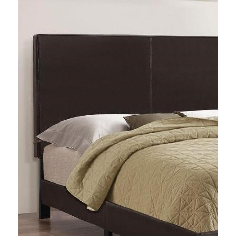 Coaster Fine Furniture Dark Brown Leatherette Queen Bed-0