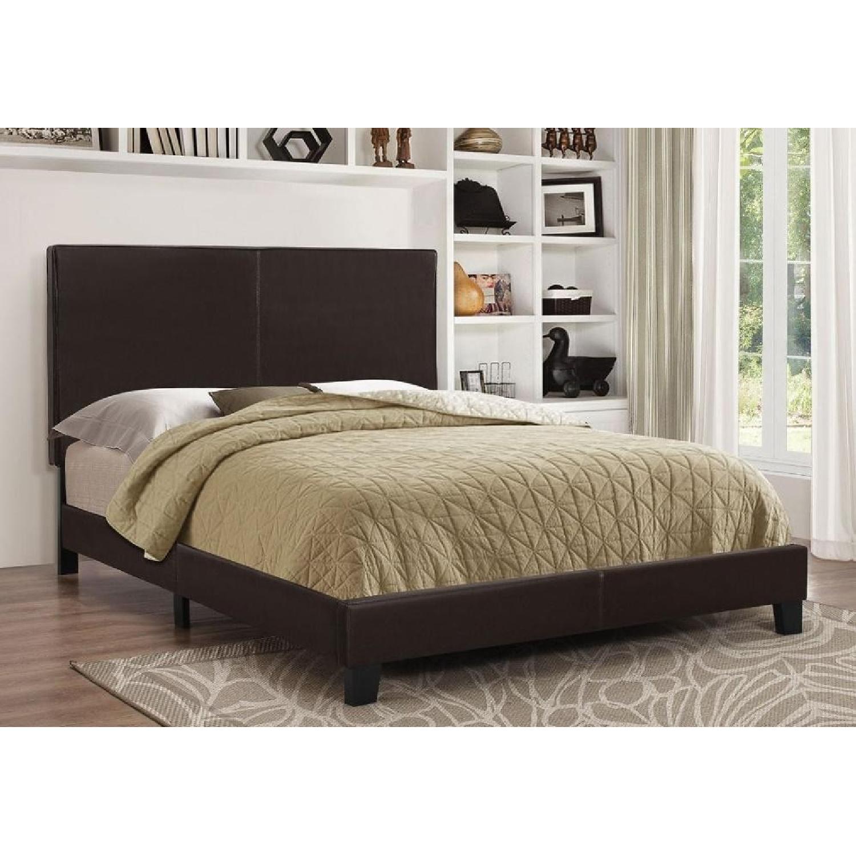 Coaster Fine Furniture Dark Brown Leatherette Queen Bed-2