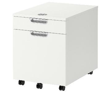 Ikea 2 Drawer Filing Cabinet w/ Number lock