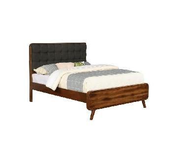 Mid-Century Design Queen Bed