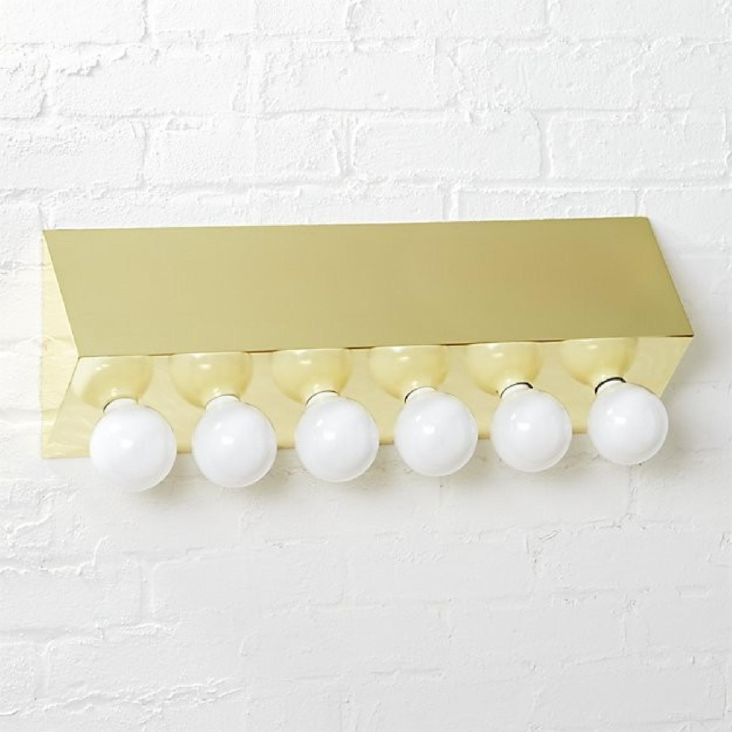 CB2 Hollywood Glam Brass Wall Sconce - AptDeco