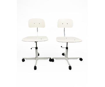 Engelbrechts Jorgen Rasmussen's White Kevi Desk Chair