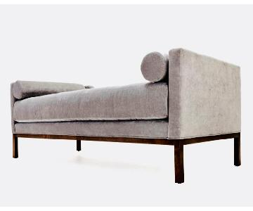 Grey Fabric Convertible Daybed