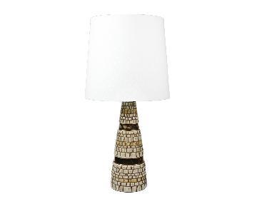 Mid-Century Metallic Painted Ceramic Table Lamp