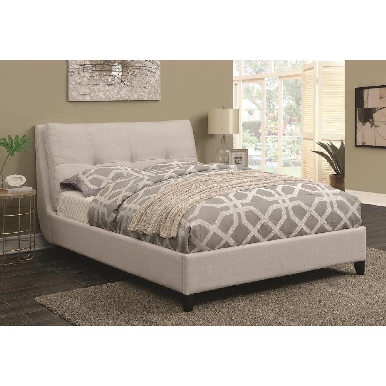 Modern Bed Frame Stella Crystal Tufted Black Modern Bed With