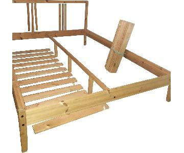 A&E Wood Designs Wood Full Size Bed Frame