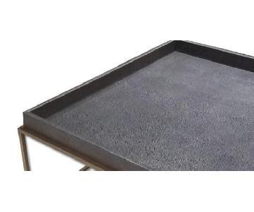 Restoration Hardware Modern Faux Shagreen Coffee Table