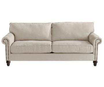 Pier 1 Alton Ecru Rolled Arm Sleeper Sofa
