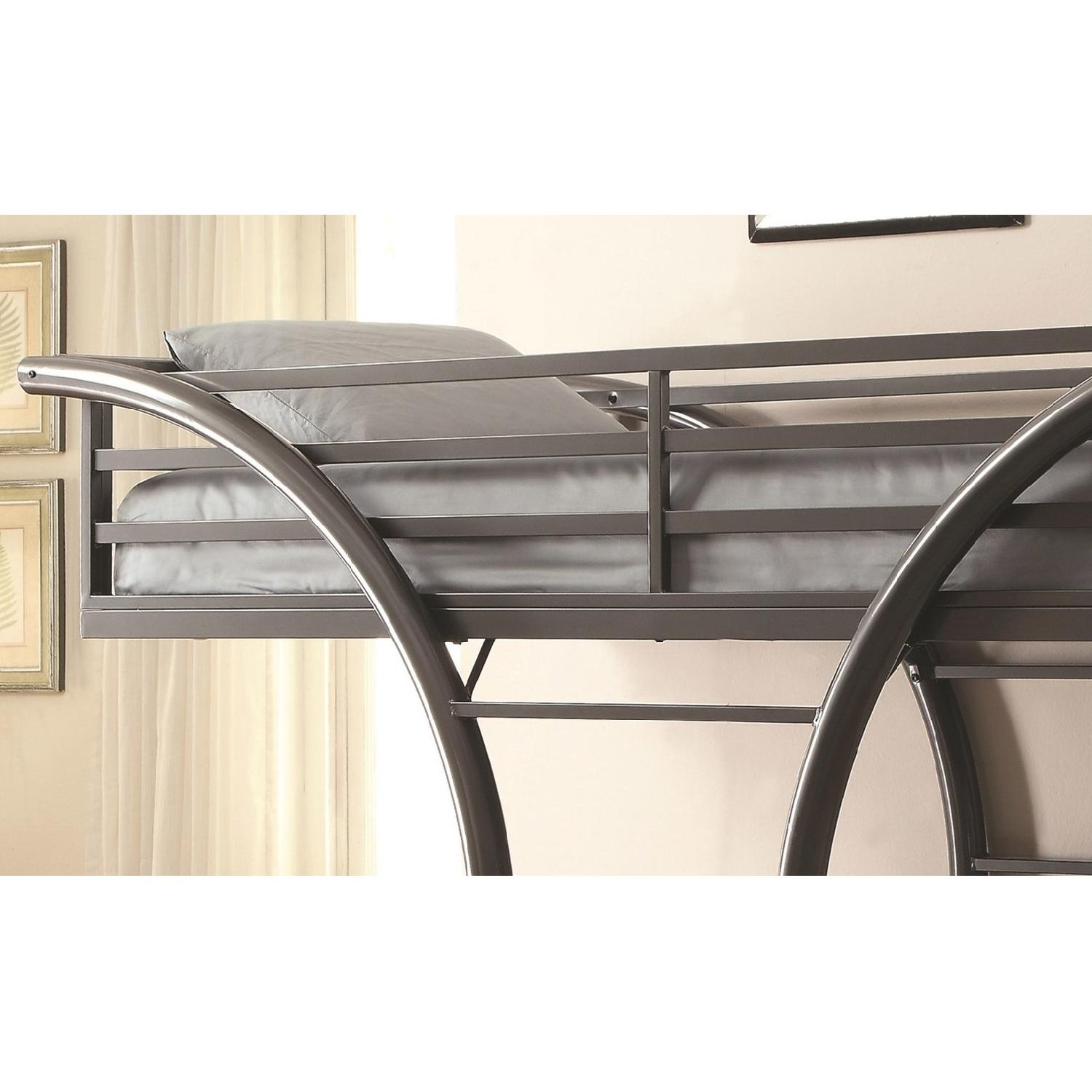 Twin Over Twin Steel Bunk Bed Finished in Gunmetal - image-2