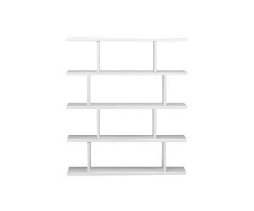CB2 3.14 White Bookcase
