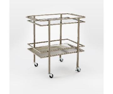 West Elm Silver Bar Cart