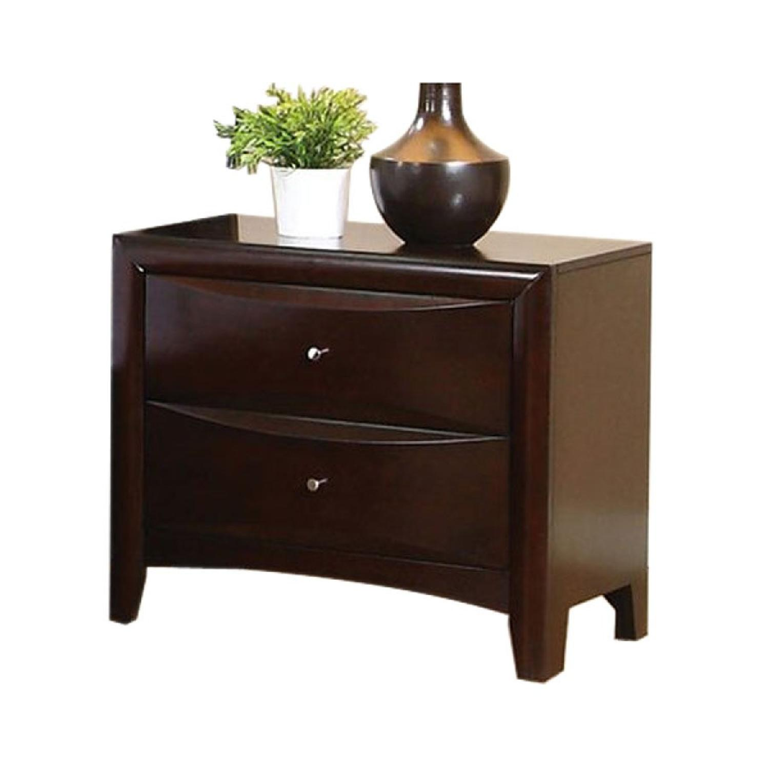 2 Drawer Nightstand in Cappuccino Finish