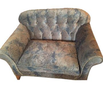 Arhaus Preston Fitted Chair and a Half in Etruscan Pebble